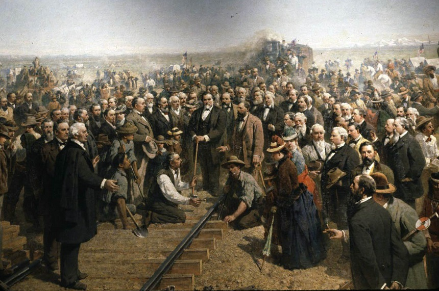 The Last Spike by Thomas Hill (1881)